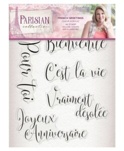 Sara Signature Collection Parisian Acryl Stamp - French Greetings