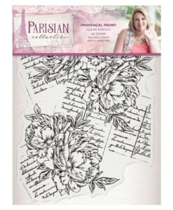 Sara Signature Collection Parisian Acryl Stamp - Provençal Peony