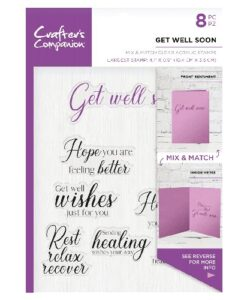 Crafter's Companion Sentiment and Verses Clear Stamp - Get Well Soon