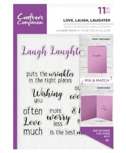 Crafter's Companion Sentiment and Verses Clear Stamp - Love, Lauch, Laughter