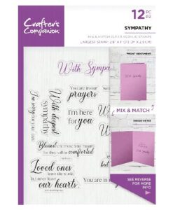 Crafter's Companion Sentiment and Verses Clear Stamp - Sympathy