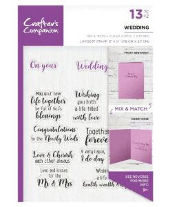 Crafter's Companion Sentiment and Verses Clear Stamp - Wedding