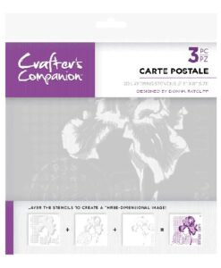 Crafter's Companion 3D Layering Stencil - Carte Postale