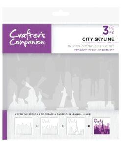 Crafter's Companion 3D Layering Stencil - City Skyline