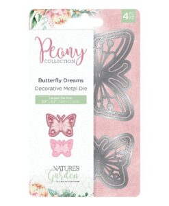 Nature's Garden Peony Collection Metal Die - Butterfly Dreams