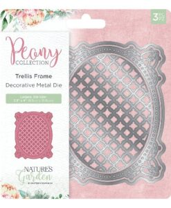 Nature's Garden Peony Collection Metal Die - Trellis Frame