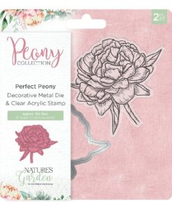 Nature's Garden Peony Collection Stamp & Die - Perfect Peony