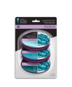 Spectrum Noir Inkpad (3PC) Harmony Quick Dry – Aqua Blues
