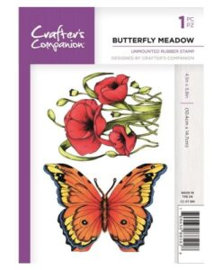 Crafter's Companion A6 UM Stempel – Butterfly Meadow