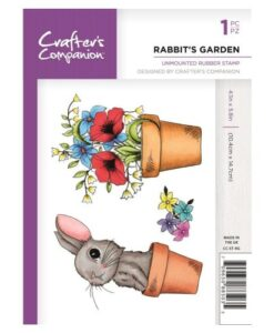 Crafter's Companion A6 UM Stempel – Rabbit's Garden
