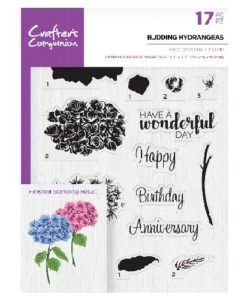 Crafter's Companion Clear Stamp - Budding Hydrangeas