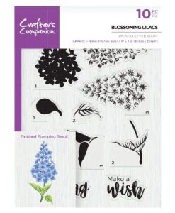 Crafter's Companion Clear Stamp - Blossoming Lilacs