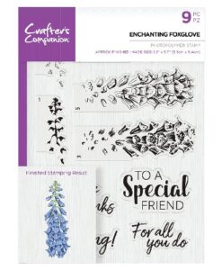 Crafter's Companion Clear Stamp - Enchanting Foxglove