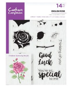 Crafter's Companion Clear Stamp - English Rose