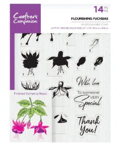 Crafter's Companion Clear Stamp - Flourishing Fuchsias