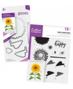 Crafter's Companion Layering Stamp & Gemini Die – Happy Sunflower