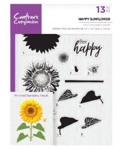 Crafter's Companion Clear Stamp - Happy Sunflower