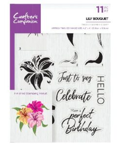 Crafter's Companion Clear Stamp - Lily Bouquet