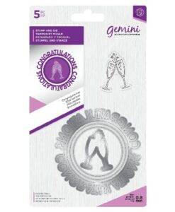 Gemini Circle Sentiment Stamp & Die - Congratulations