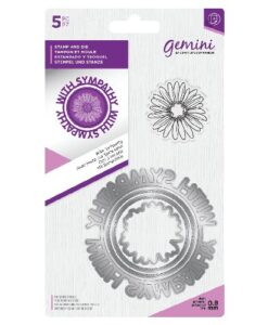 Gemini Circle Sentiment Stamp & Die - With Sympathy