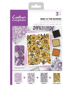 Crafter's Companion Background Layering Stamp - Bees in the Border