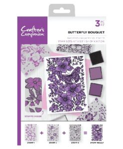 Crafter's Companion Background Layering Stamp - Butterfly Bouquet