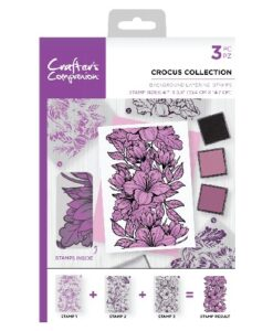 Crafter's Companion Background Layering Stamp - Crocus Collection