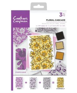 Crafter's Companion Background Layering Stamp - Floral Cascade