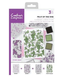Crafter's Companion Background Layering Stamp - Fruit of the Vine