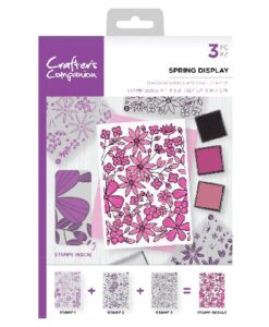 Crafter's Companion Background Layering Stamp - Spring Display