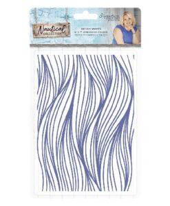 Sara Signature Collection Nautical Embossing Folder - Ocean Waves