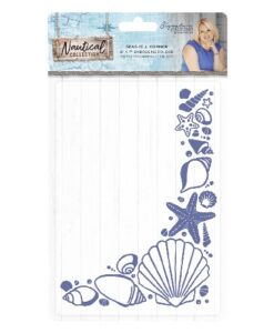 Sara Signature Collection Nautical Embossing Folder - Seashell Corner
