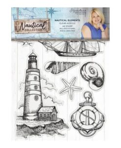 Sara Signature Collection Nautical Acryl Stamp - Nautical Elements