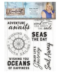 Sara Signature Collection Nautical Acryl Stamp - Seas the Day