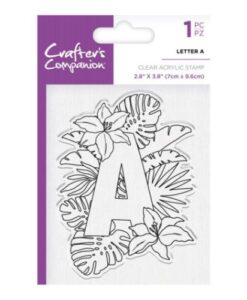 Crafter's Companion Clear Stamp - Letter A