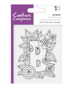 Crafter's Companion Clear Stamp - Letter B