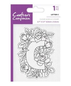 Crafter's Companion Clear Stamp - Letter C