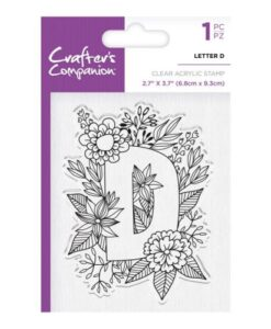 Crafter's Companion Clear Stamp - Letter D