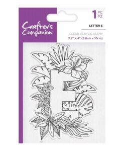 Crafter's Companion Clear Stamp - Letter E