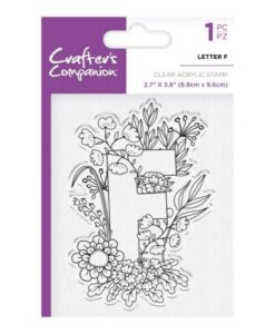 Crafter's Companion Clear Stamp - Letter F