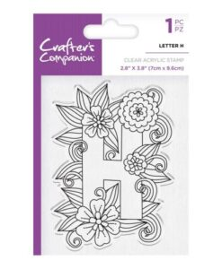 Crafter's Companion Clear Stamp - Letter H