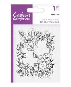 Crafter's Companion Clear Stamp - Hashtag