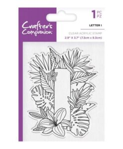 Crafter's Companion Clear Stamp - Letter I