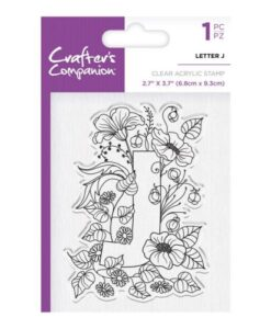 Crafter's Companion Clear Stamp - Letter J