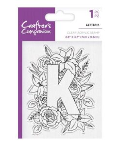 Crafter's Companion Clear Stamp - Letter K