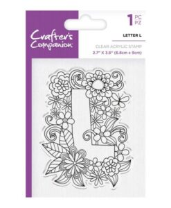 Crafter's Companion Clear Stamp - Letter L