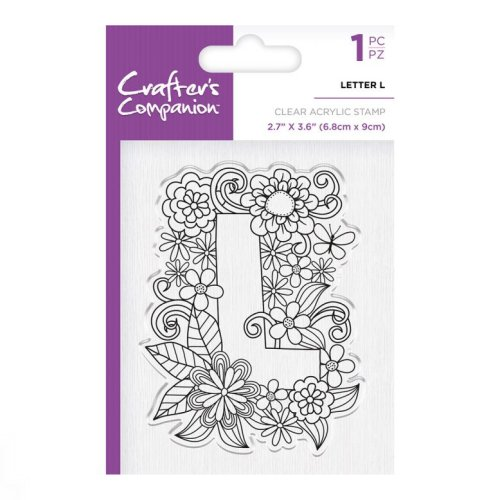 Crafter's Companion Clear Stamp – Letter L