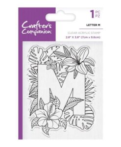 Crafter's Companion Clear Stamp - Letter M