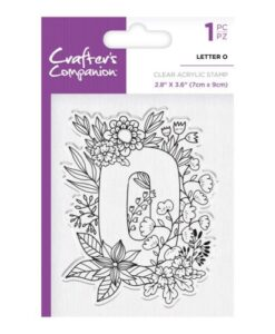 Crafter's Companion Clear Stamp - Letter O