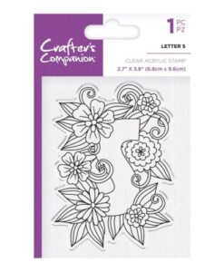 Crafter's Companion Clear Stamp - Letter S